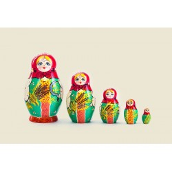 "Nesting Doll 5 pcs. ""Pattern"" C-6 (182)"