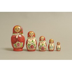 "Nesting Doll 5 pcs. ""Pattern"" C-6 (183)"