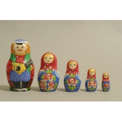 "Nesting Doll 5 pcs. ""Pattern"" C-6 (186)"