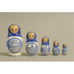 "Nesting Doll 5 pcs. ""Pattern"" C-6 (188)"