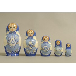 "Nesting Doll 5 pcs. ""Pattern"" C-6 (189)"