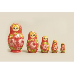 "Nesting Doll 5 pcs. ""Pattern"" C-6 (190)"
