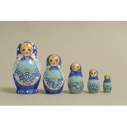 "Nesting Doll 5 pcs. ""Pattern"" C-6 (197)"