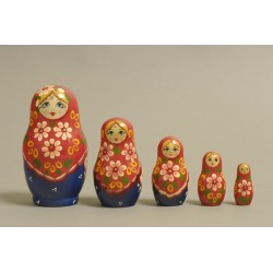 "Nesting Doll 5 pcs. ""Pattern"" C-6 (199)"