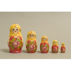"Nesting Doll 5 pcs. ""Pattern"" C-6 (200)"
