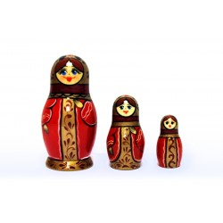 "Nesting Doll 3 pcs. ""Pattern"" C-4 (225)"