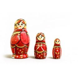 "Nesting Doll 3 pcs. ""Pattern"" C-4 (226)"