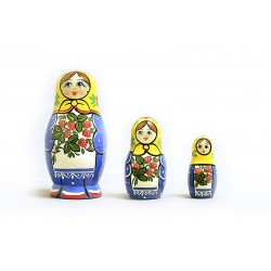 "Nesting Doll 3 pcs. ""Pattern"" C-4 (227)"