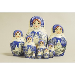 "Nesting Doll 10 pcs. ""Pattern"" C-11 (228)"