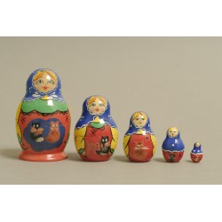"Nesting Doll 5 pcs. ""Pattern"" C-6 (244)"