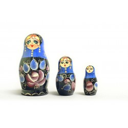"Nesting Doll 3 pcs. ""Pattern"" C-4 (25)"