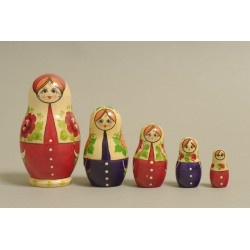 "Nesting Doll 5 pcs. ""Pattern"" C-6 (274)"