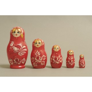 "Nesting Doll 5 pcs. ""Pattern"" C-6 (29)"