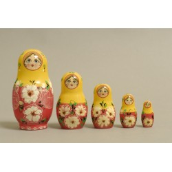 "Nesting Doll 5 pcs. ""Pattern"" C-6 (299)"