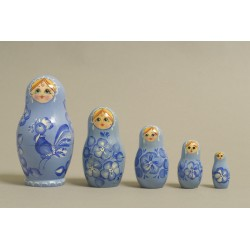 "Nesting Doll 5 pcs. ""Pattern"" C-6 (300)"