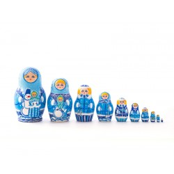 "Nesting Doll 10 pcs. ""Pattern"" C-11 (305)"