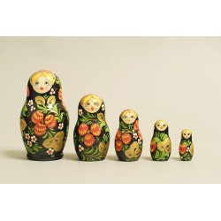 "Nesting Doll 5 pcs. ""Pattern"" C-6 (313a)"