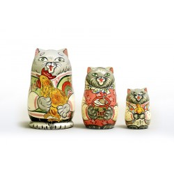 "Nesting Doll 3 pcs. ""Pattern"" C-4 (316)"
