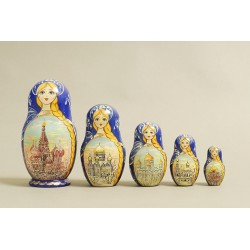 "Nesting Doll 5 pcs. ""Pattern"" C-6 (324)"