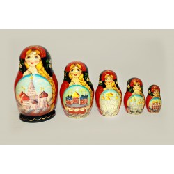"Nesting Doll 5 pcs. ""Pattern"" C-6 (325)"