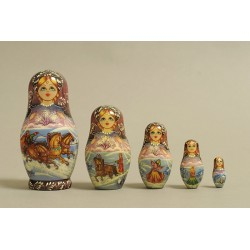 "Nesting Doll 5 pcs. ""Pattern"" C-6 (348)"