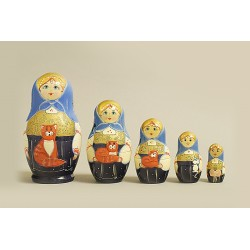 "Nesting Doll 5 pcs. ""Pattern"" C-6 (350)"