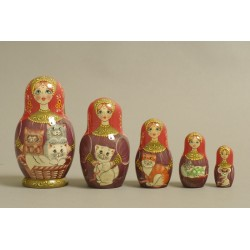 "Nesting Doll 5 pcs. ""Pattern"" C-6 (351)"