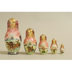 "Nesting Doll 5 pcs. ""Pattern"" C-6 (360)"
