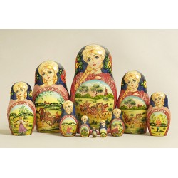 "Nesting Doll 10 pcs. ""Pattern"" C-11 (378)"
