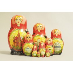 "Nesting Doll 10 pcs. ""Pattern"" C-11 (389)"