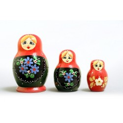 "Nesting Doll 3 pcs. ""Pattern"" C-4 (39)"