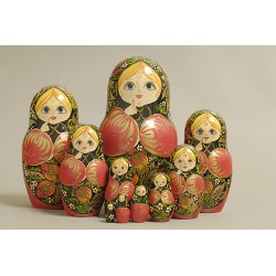 "Nesting Doll 10 pcs. ""Pattern"" C-11 (397)"