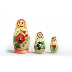 "Nesting Doll 3 pcs. ""Pattern"" C-4 (403)"