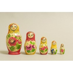 "Nesting Doll 5 pcs. ""Pattern"" C-6 (405)"