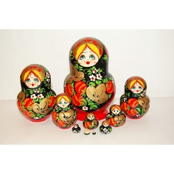 "Nesting Doll 10 pcs. ""Pattern"" C-11 (40)"