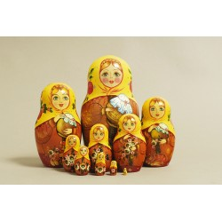 "Nesting Doll 10 pcs. ""Pattern"" C-11 (579)"