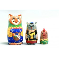 "Nesting Doll 3 pcs. ""Pattern"" C-4 (595)"