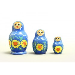"Nesting Doll 3 pcs. ""Pattern"" C-4 (609)"