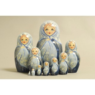 "Nesting Doll 10 pcs. ""Pattern"" C-11 (625)"