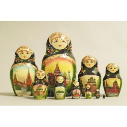 "Nesting Doll 10 pcs. ""Pattern"" C-11 (63)"