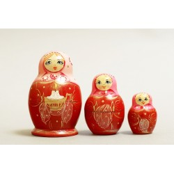 "Nesting Doll 3 pcs. ""Pattern"" C-4 (632)"