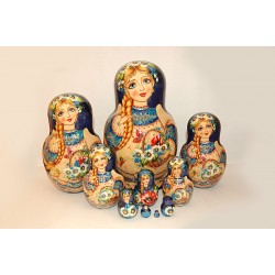 "Nesting Doll 10 pcs. ""Pattern"" C-11 (660)"