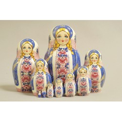 "Nesting Doll 10 pcs. ""Pattern"" C-11 (68)"