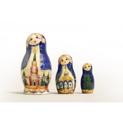 "Nesting Doll 3 pcs. ""Pattern"" C-4 (707)"