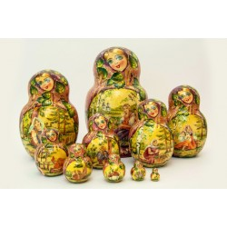 "Nesting Doll 10 pcs. ""Pattern"" C-11 (714)"