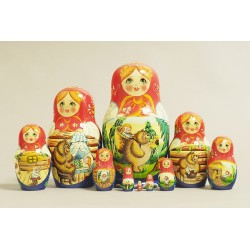 "Nesting Doll 10 pcs. ""Pattern"" C-11 (733)"