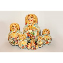 "Nesting Doll 10 pcs. ""Pattern"" C-11 (735)"