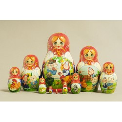 "Nesting Doll 10 pcs. ""Pattern"" C-11 (742)"