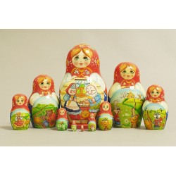 "Nesting Doll 10 pcs. ""Pattern"" C-11 (743)"
