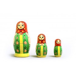 "Nesting Doll 3 pcs. ""Pattern"" C-4 (86)"